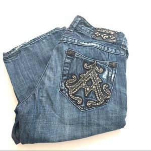 Archaic by affliction baron boot cut jeans 33